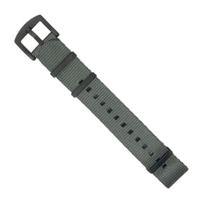 Seat Belt Nato Strap in Grey with Black Buckle (20mm) - Nomad Watch Works MY