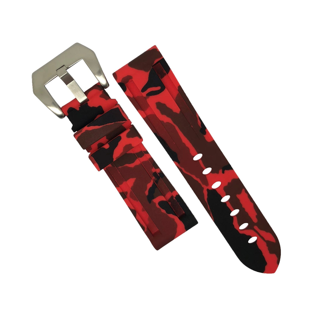 V3 Silicone Strap in Red Camo (24mm) - Nomad Watch Works Malaysia