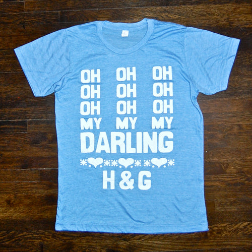 'Darling' Tee (blue) - Handsome and Gretyl