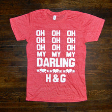 Load image into Gallery viewer, 'Darling' Tee (red) - Handsome and Gretyl