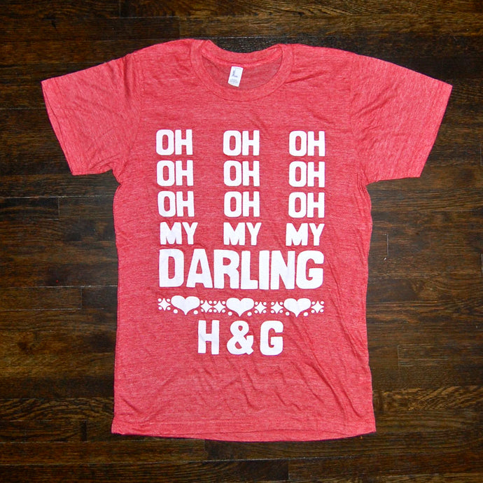 'Darling' Tee (red) - Handsome and Gretyl