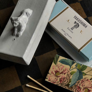 Astier de Villatte Lion Incense Holder & Box