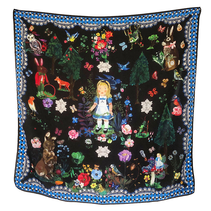 Alice in Wonderland Silk Scarf by Nathalie Lete