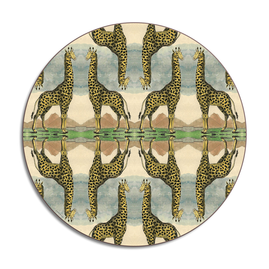 PATCH NYC Giraffe Round Table Mat