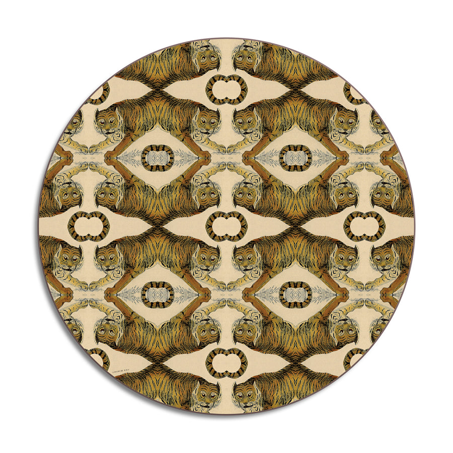 PATCH NYC Tiger Round Table Mat