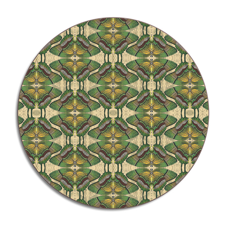 PATCH NYC Green Butterfly Round Table Mat