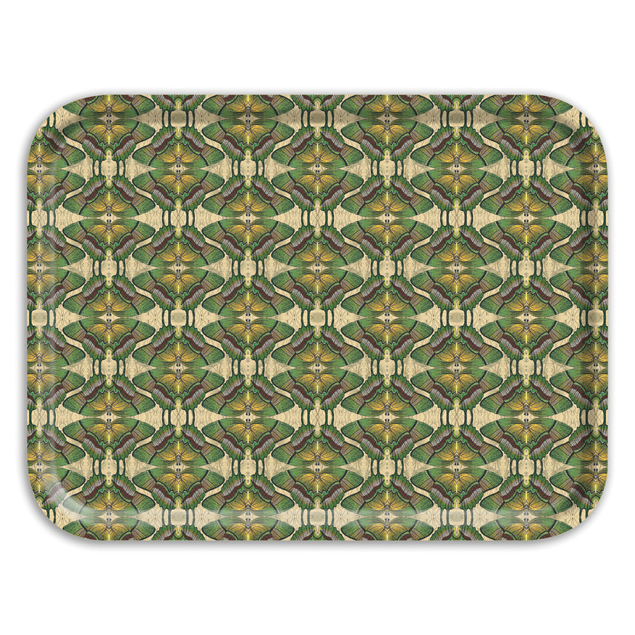 PATCH NYC Green Butterfly Rectangle Tray