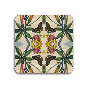 PATCH NYC Yellow Trumpet Flower Coaster Set