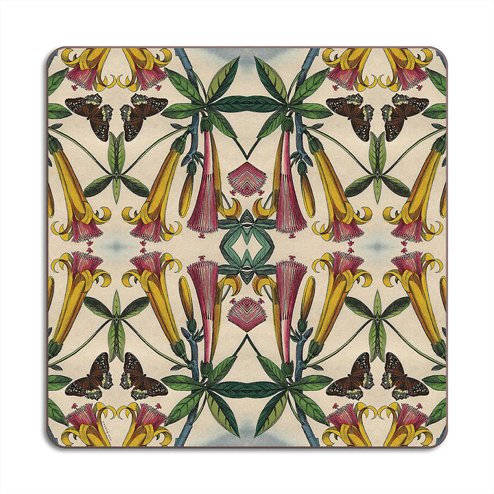 PATCH NYC Yellow Trumpet Flower Square Table Mat