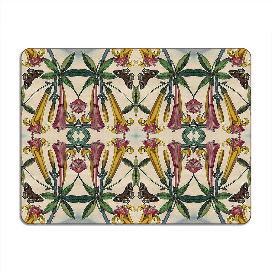 PATCH NYC Yellow Trumpet Flower Table Mat
