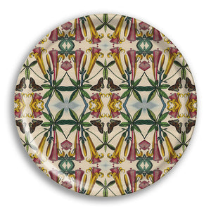 PATCH NYC Yellow Trumpet Flower Round Tray