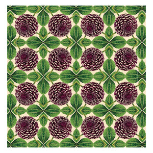 PATCH NYC Purple Dahlia Linen Napkins