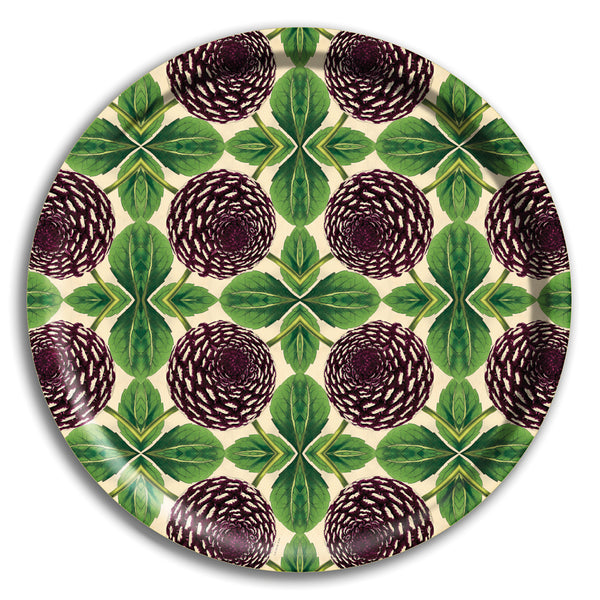 PATCH NYC Purple Dahlia Round Tray