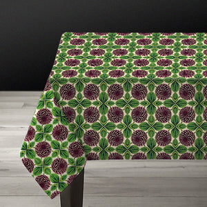 PATCH NYC Purple Dahlia Linen Tablecloth {AVLTCPD}