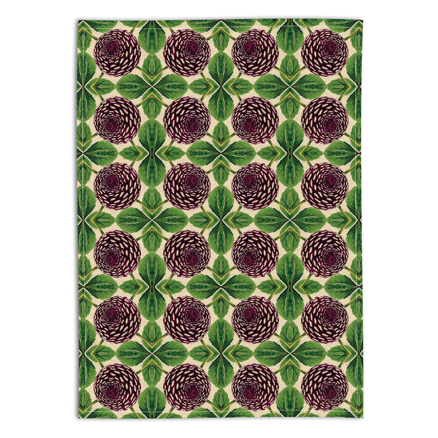 PATCH NYC Purple Dahlia Linen Tea Towel {AVLTTD}