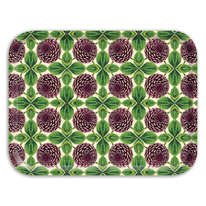 PATCH NYC Purple Dahlia Rectangle Tray