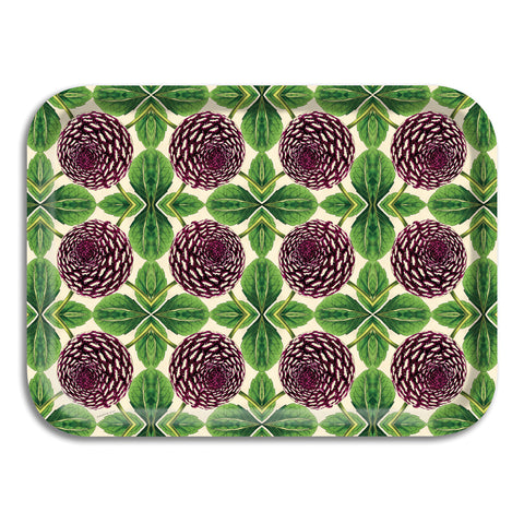 PATCH NYC Purple Dahlia Small Rectangle Tray