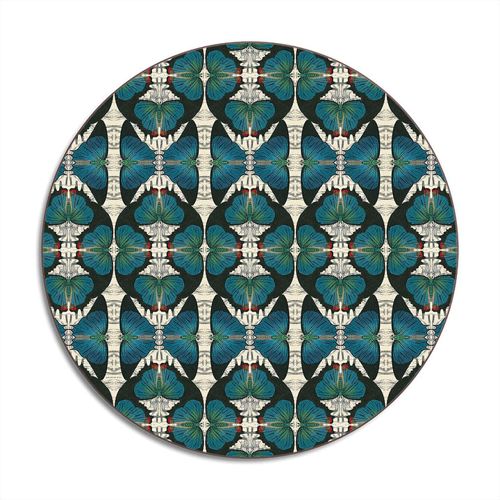 PATCH NYC Blue Butterfly Round Table Mat
