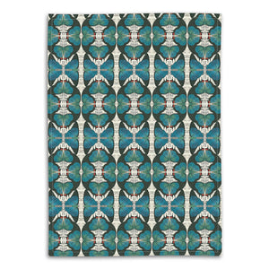 PATCH NYC Blue Butterfly Linen Tea Towel
