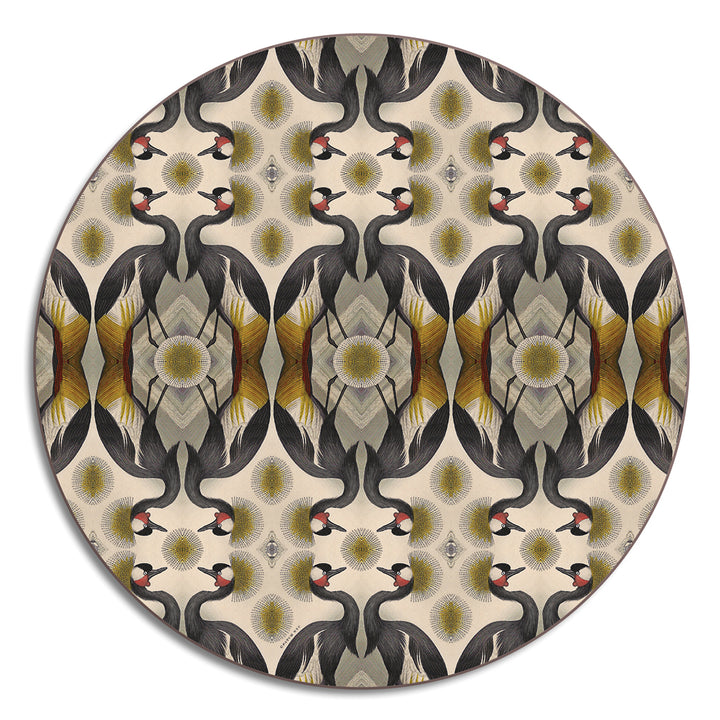 PATCH NYC Golden Crane Round Table Mat