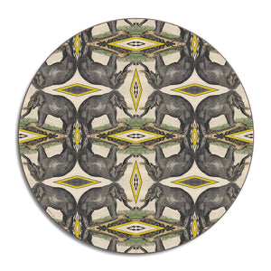 PATCH NYC Elephant Round Table Mat