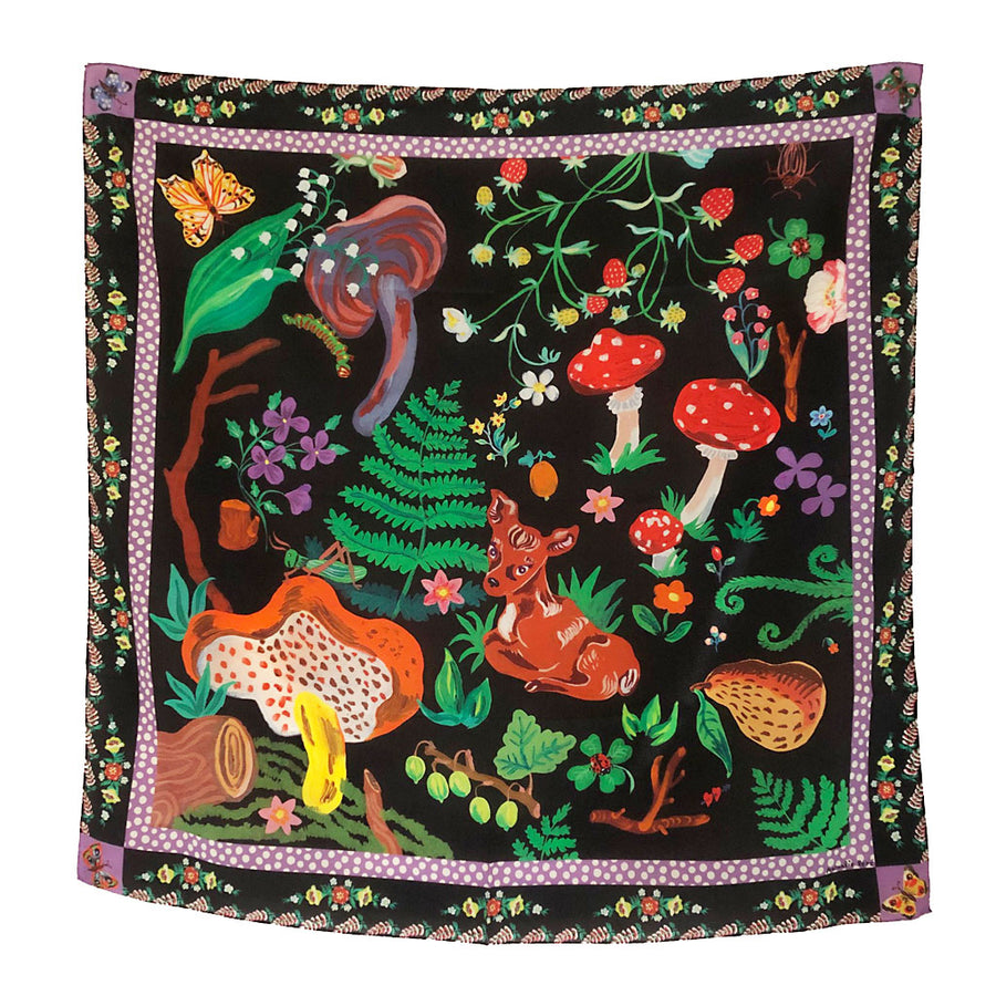 Bambi Silk Scarf by Nathalie Lete