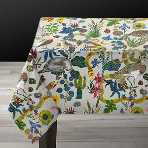 Nathalie Lete Birds in the Dunes Linen Tablecloth