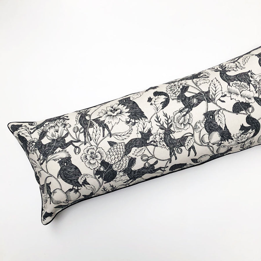 PATCH  NYC x Antoinette Poisson Twilight Black & White Bolster Pillow