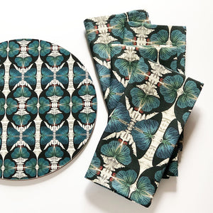 PATCH NYC Blue Butterfly Linen Napkins