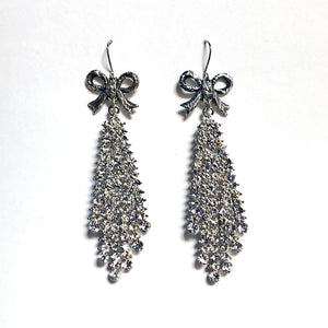 Bow & Crystal Waterfall Earrings