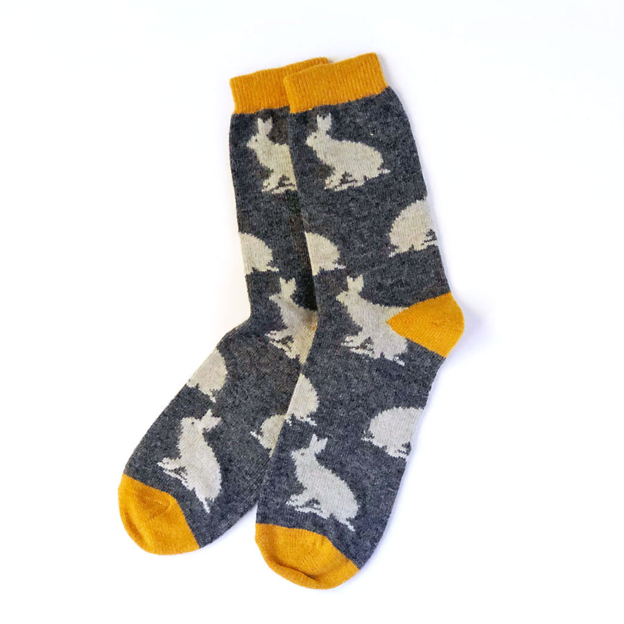 Men's Lambswool Socks Rabbits