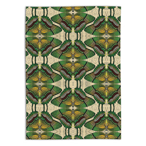 PATCH NYC Green Butterfly Linen Tea Towel {AVLTTGB}