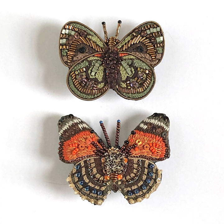 Butterfly Embroidered Pins