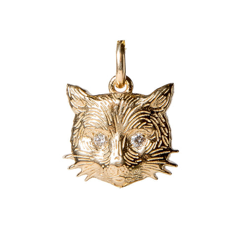 Cat Charm with Diamond Eyes {PMF05D}