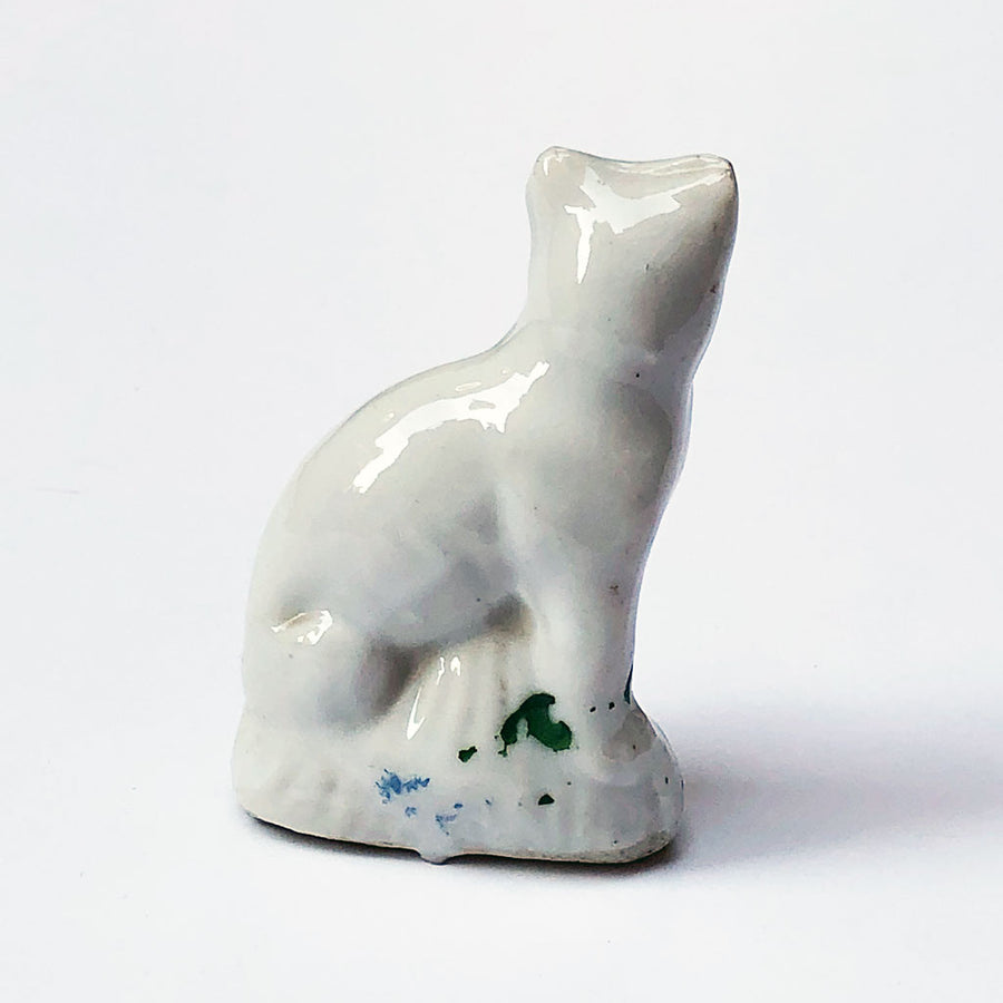 Vintage White Cat Figurine