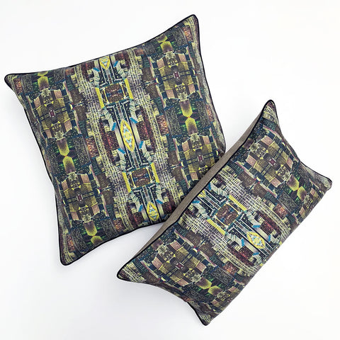 City at Night Ephemera Pillow {EPH03}