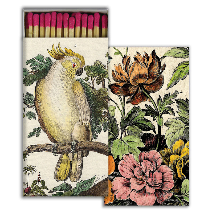 Cockatoo & Flowers Matches (pack of 4 boxes)