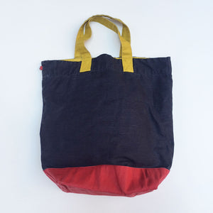 Washed Linen Color Block Tote {PT004}