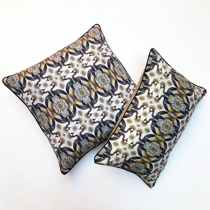 Golden Crane Pillow