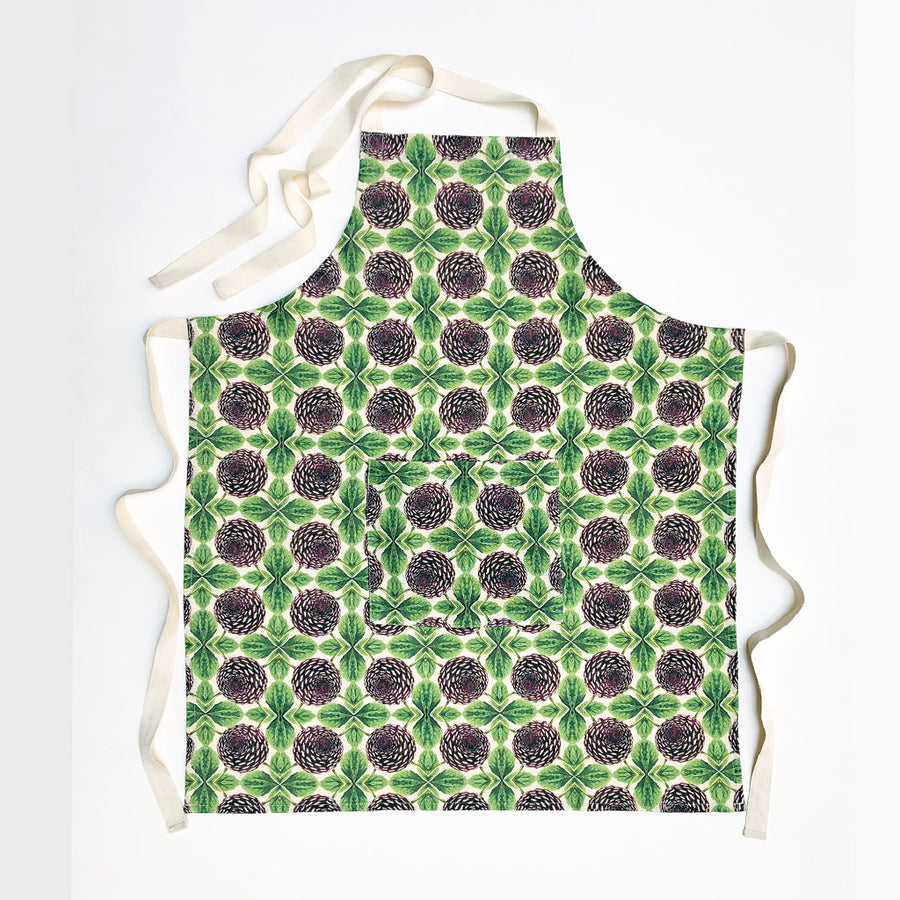PATCH NYC Purple Dahlia Linen Apron