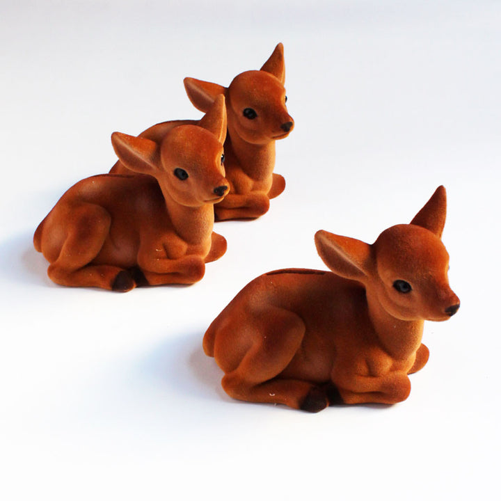 Flocked Deer Bank {ED10161}