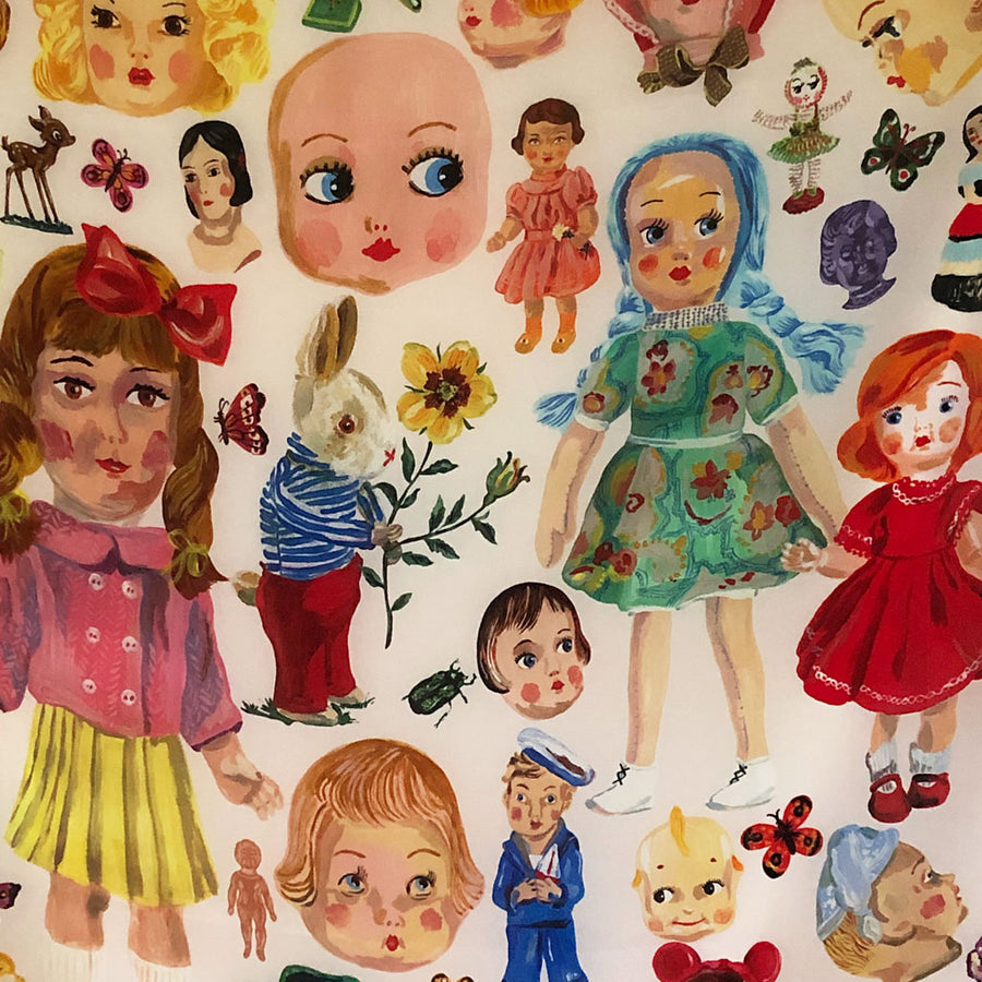 Dolls Silk Scarf by Nathalie Lete