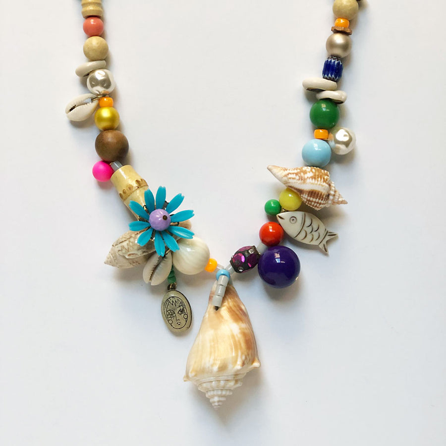 Seashell One of a Kind Necklace {04}