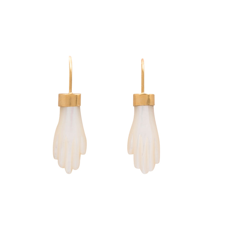 Mother of Pearl Hand Earrings