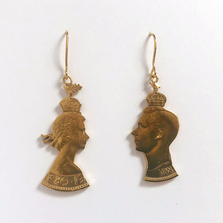 King & Queen Drop Earrings