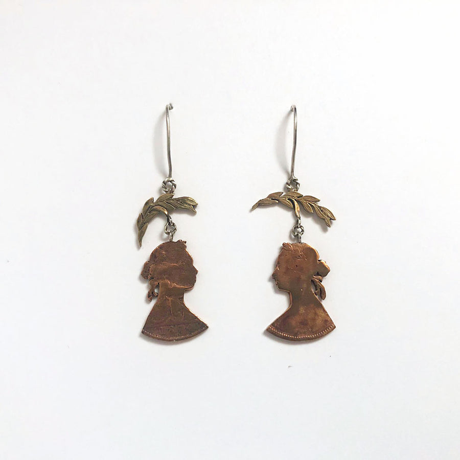 Victoria & Leaf Drop Earrings