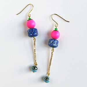Eye Bead Earrings