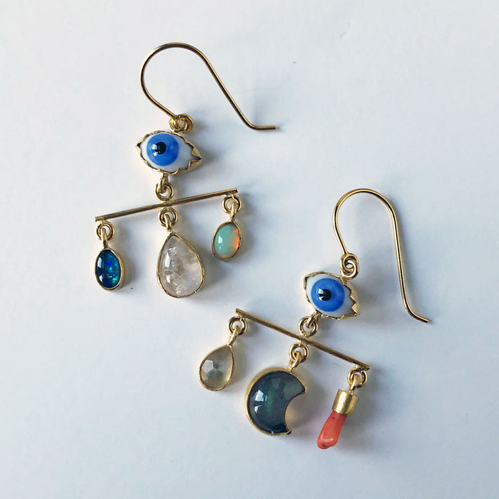 Eye Balance Drop Earrings