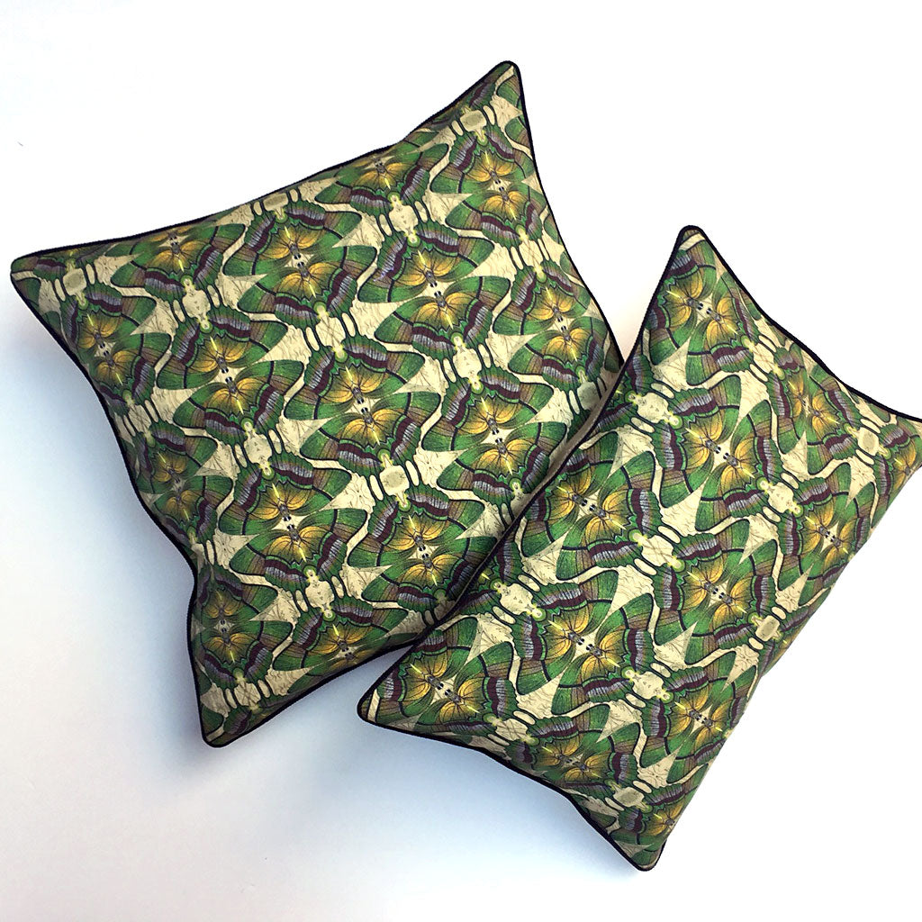 Green Butterfly Farfalle Pillow {FA101}
