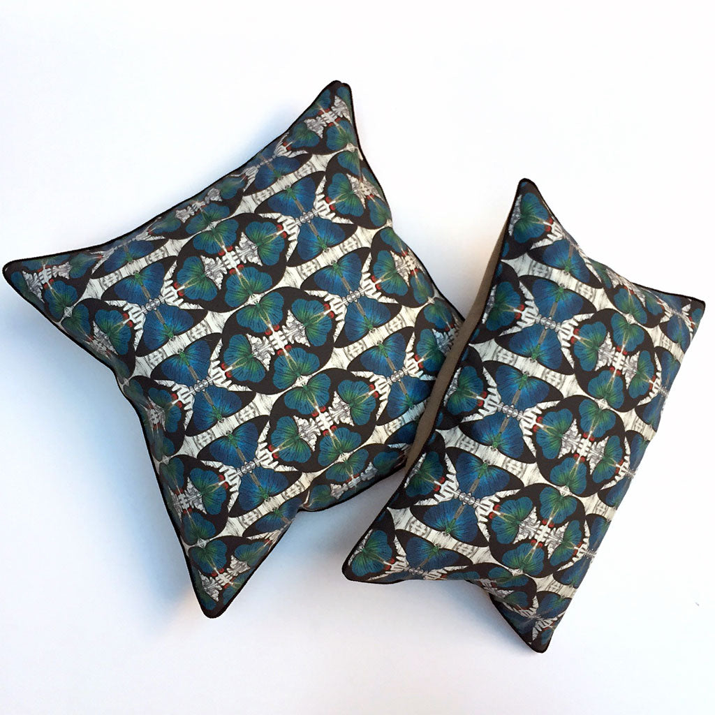 Blue Butterfly Farfalle Pillow {FA102}